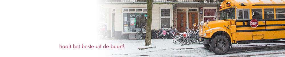 Banner buurtkamer bus Baarsjestour 2013 01 26